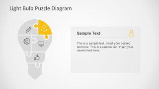 Five Pieces of Puzzle Presentation Diagram