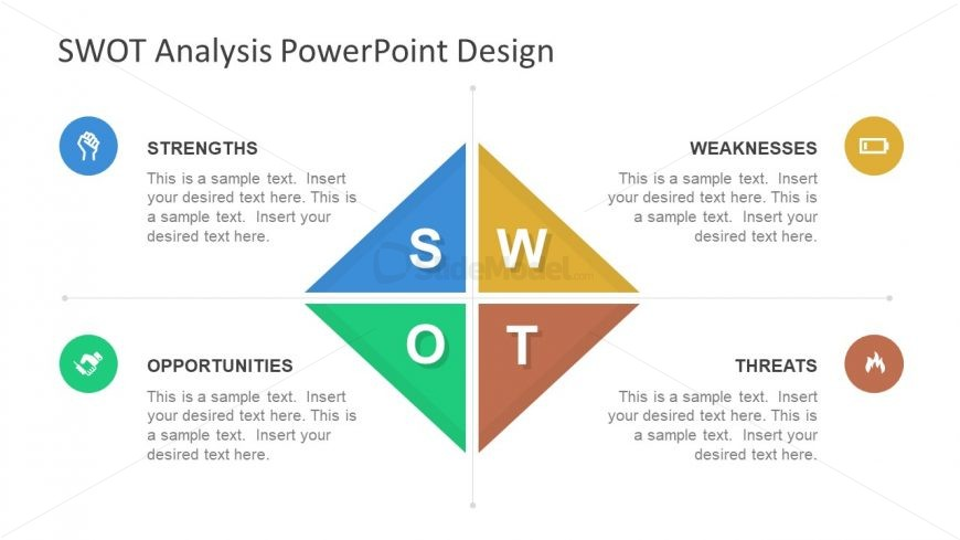 Diamond SWOT PowerPoint Template Design