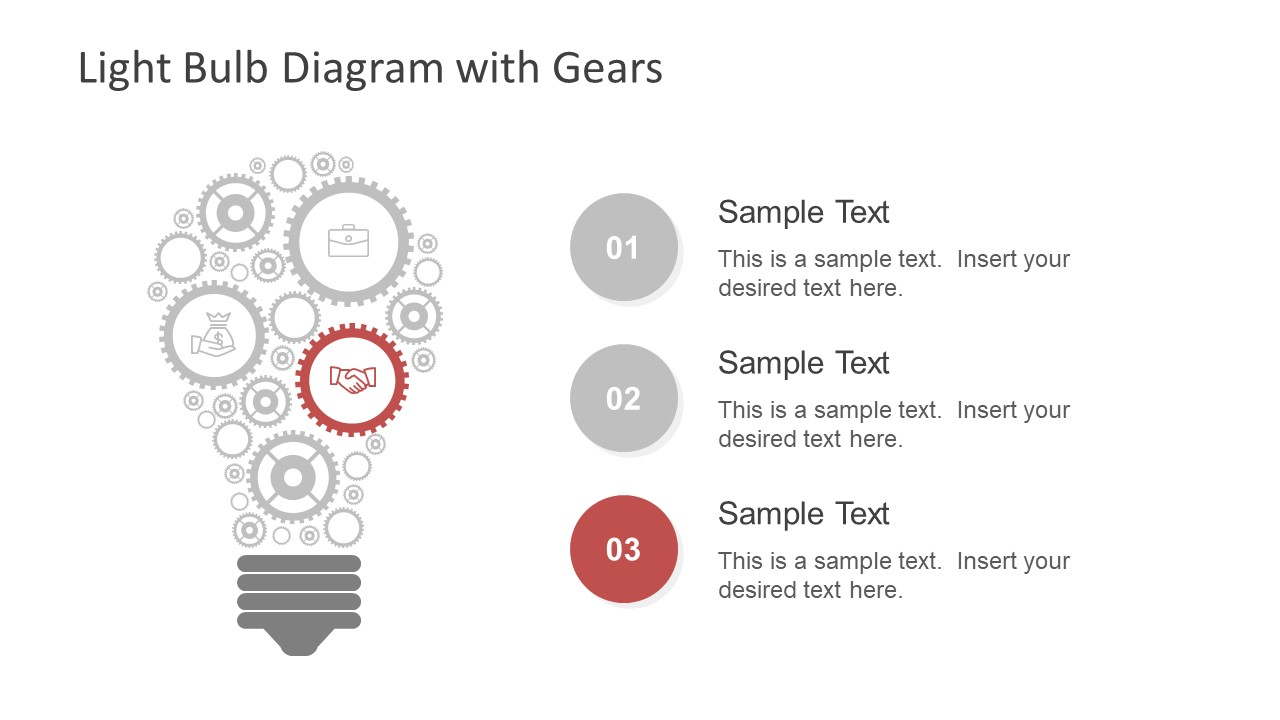 Infographic Icons Gear and Lightbulb