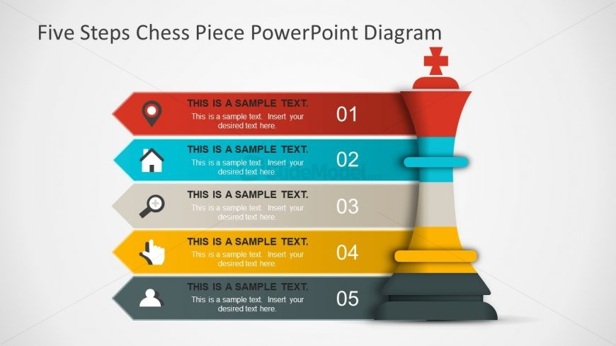 King Chess Piece Symbol PowerPoint