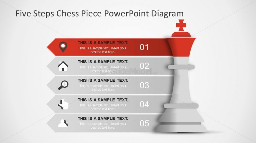 King PowerPoint Shape of King Chess Piece