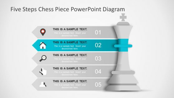 Infographic Icon Five Step Chess Symbol Slide