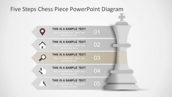 Focus Slide PowerPoint of Chess Piece