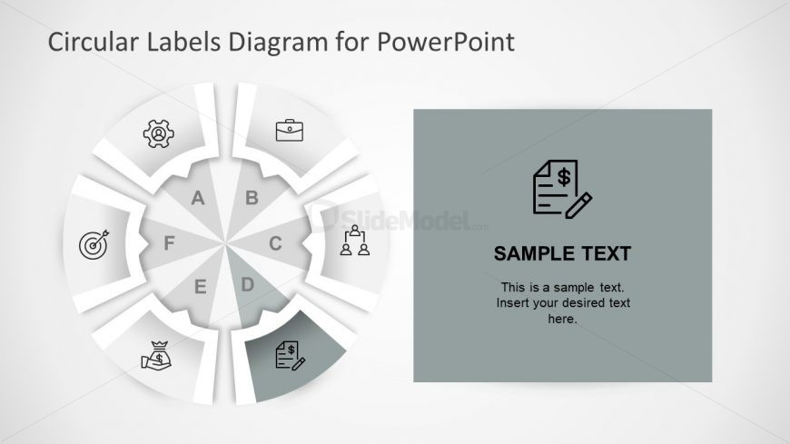 Editable Six Step Circular Diagram PPT