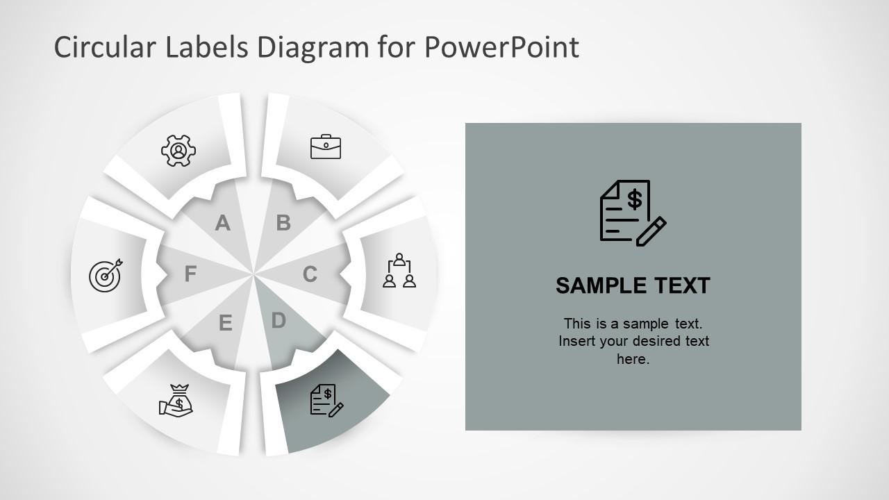 Editable Six Step Circular Diagram PPT
