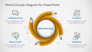 Pencil Circular PowerPoint Diagram