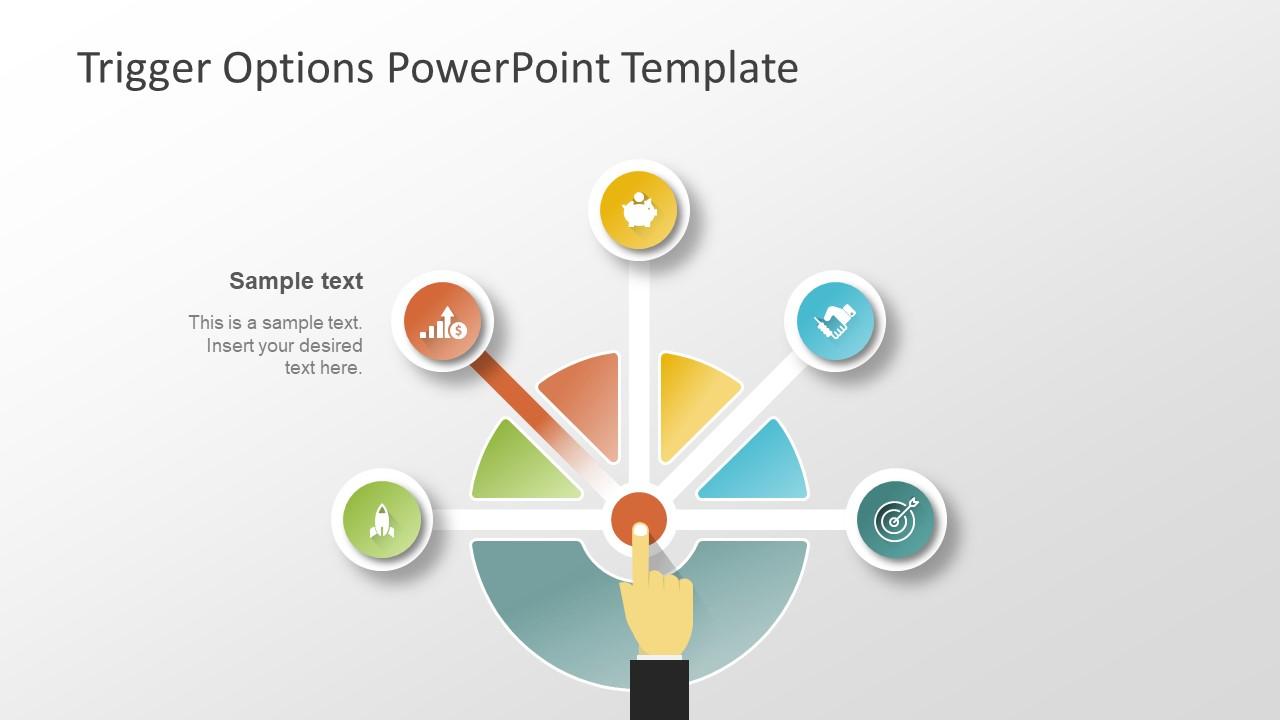 Circular Diagram of Decision PowerPoint