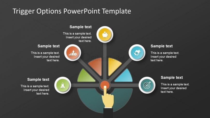 Decision Diagram Triggers Dark Background Slidemodel