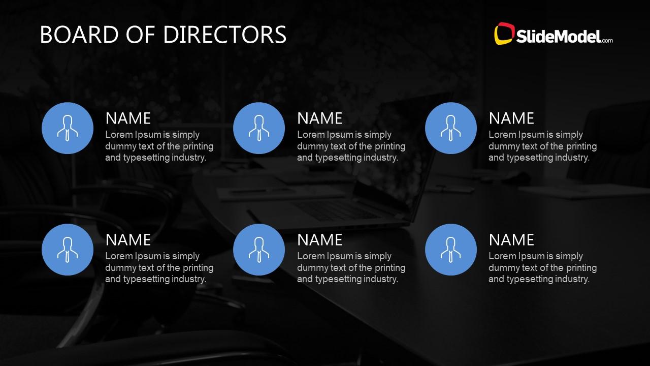 Infographic Board of Directors List