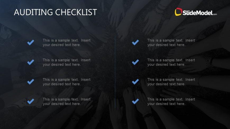 Slide Design for Checklist Concepts