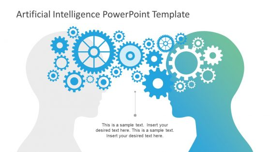 Artificial intelligence powerpoint templates human head silhouette presentation toneelgroepblik Images