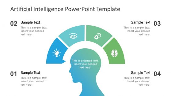 Artificial intelligence powerpoint templates 4 step diagram of ai processes toneelgroepblik Images