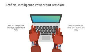 Robot Hand Illustration Slide Template