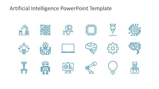 Slide of Useful Artificial Intelligence Icons