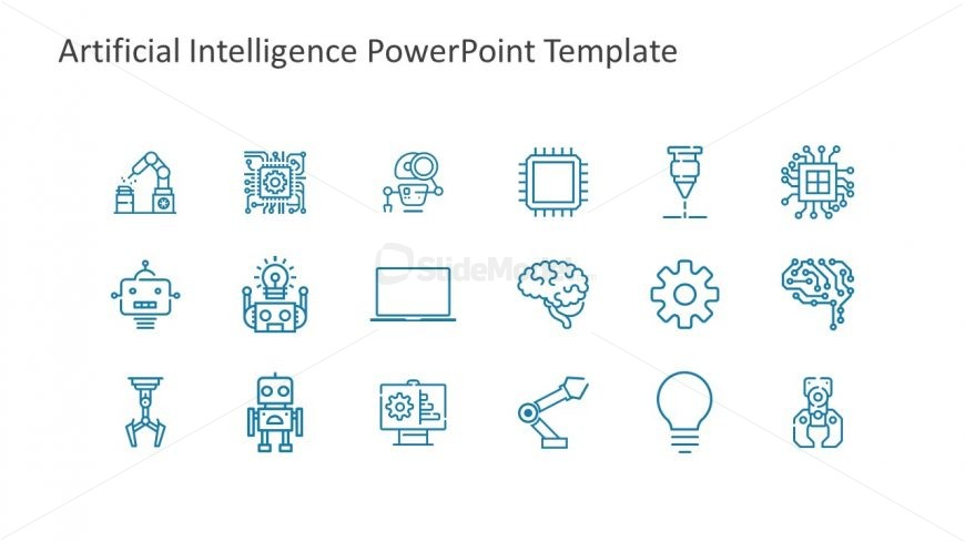 Simple Icons Presenting Artificial Intelligence