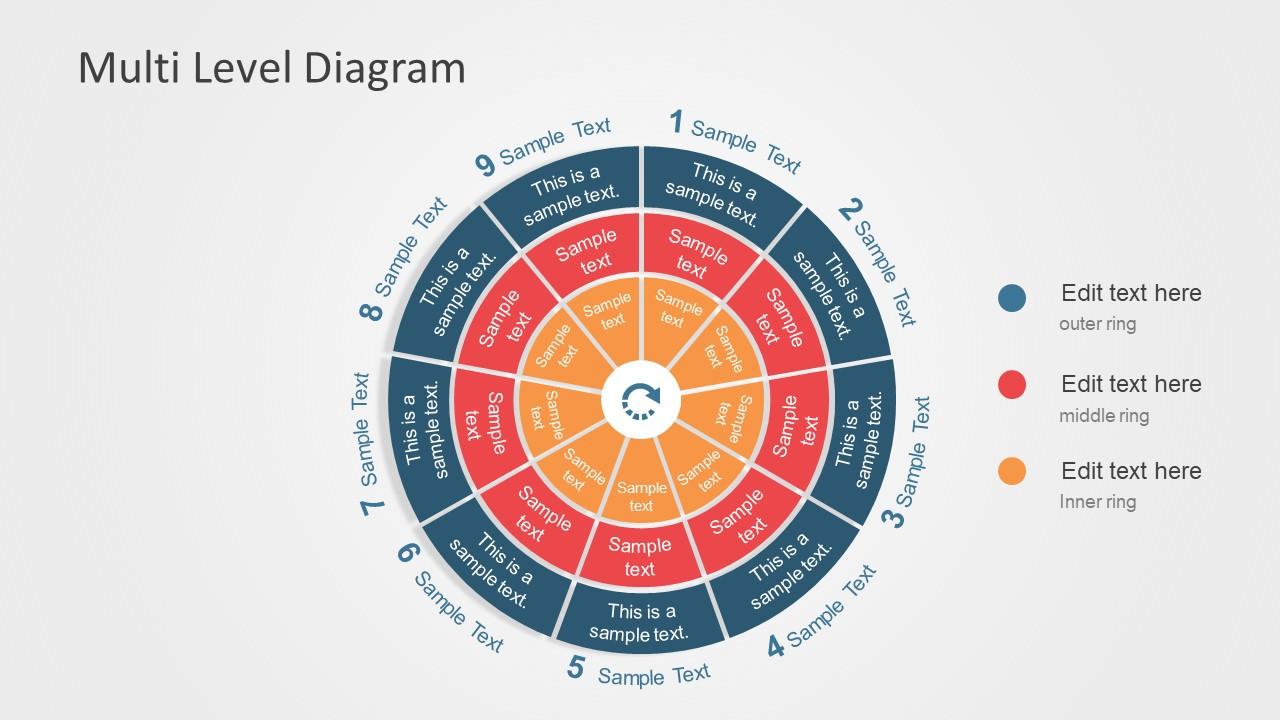 Editable Multilevel Phases Powerpoint Diagram