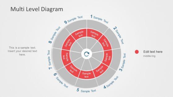 Nine Segment Circular Diagram Slide