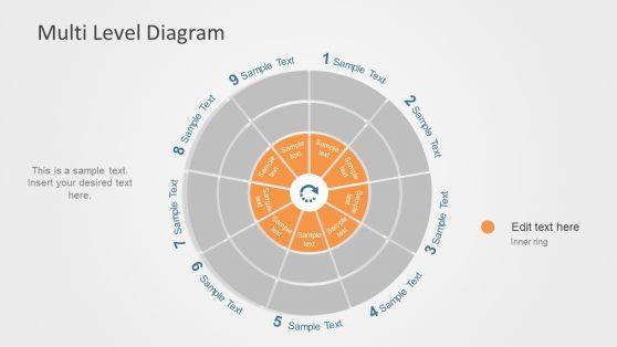 Circular Loop Multilevel Diagram Slide