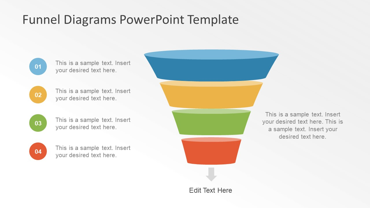 funnel diagram presentation for sales slidemodel