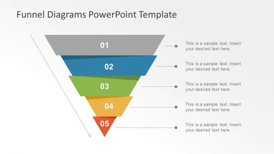 Template Slide of Funnel Chart