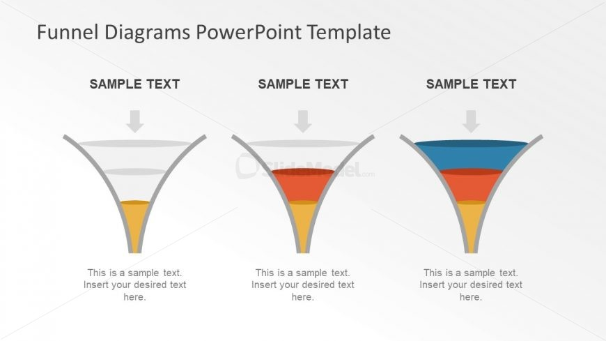 Editable PowerPoint Diagram of Funnel Analysis