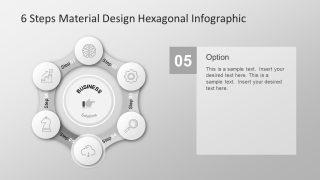 Simple Slide of Hexagonal 6 Step PowerPoint