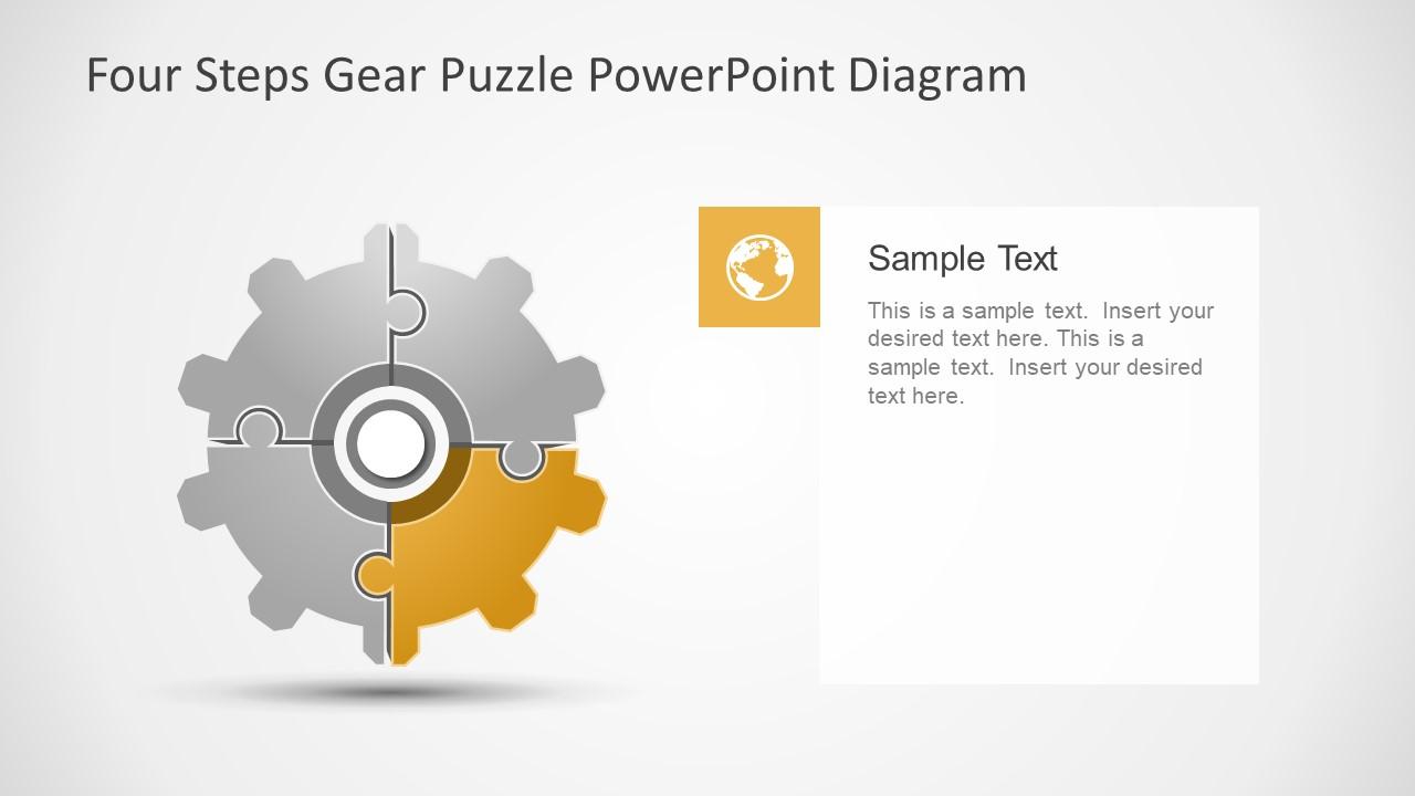 Gear Wheel Four Step Puzzle Slide