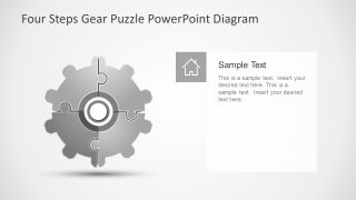 Four Step PowerPoint Gear Puzzle Presentation