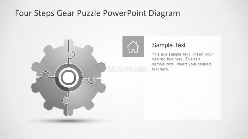 Four Step PowerPoint Gear Puzzle Presentation