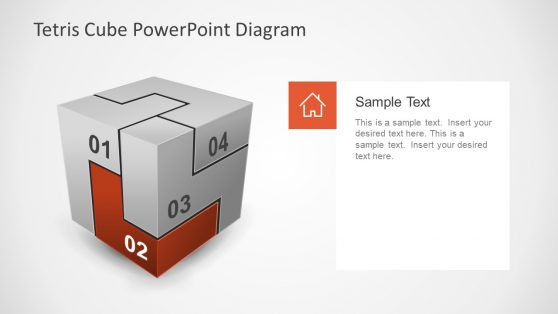 PowerPoint Template of Tertis Cube
