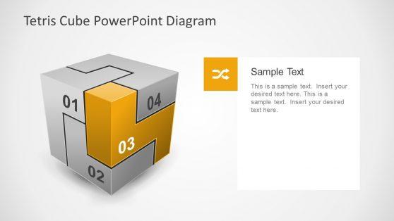 Tetris Cube 3D PowerPoint Slide