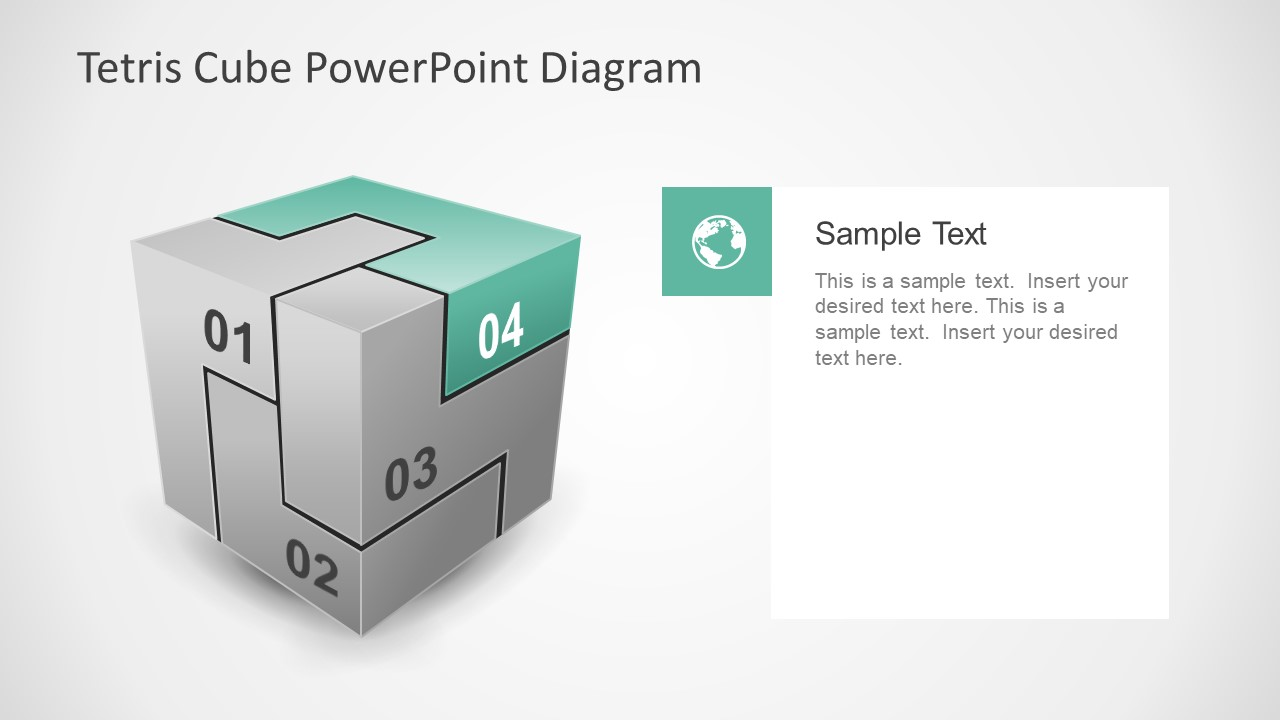 4 Step Tetris Cube Diagram Slide