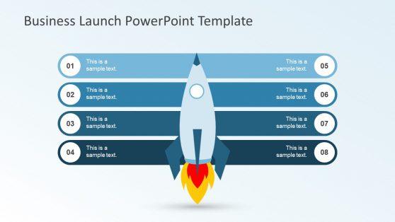 Rocket Business Launch 8 Step Presentation