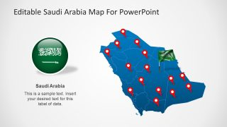 Editable Saudi Arabia Map Template for PowerPoint