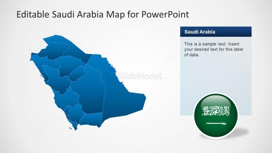 Saudi Arabia Editable Map Template