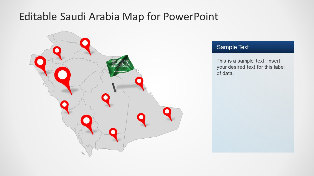 Pin Pointers on Regions in Map Template