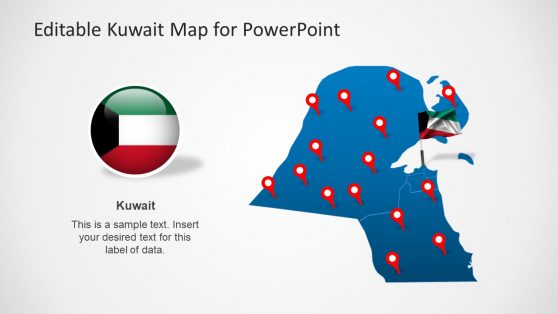 Shapes of PowerPoint for Kuwait Map