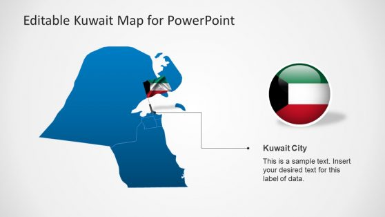 Kuwait City Presentation With Flag Template