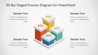 3D Bar Staged Process Diagram for PowerPoint