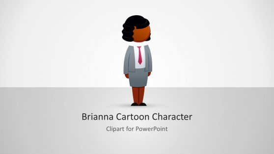 Business Woman Cartoon Character Template