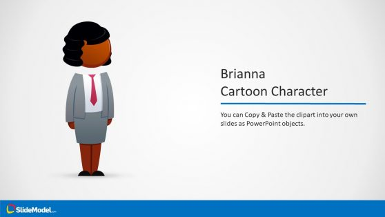 Brianna Afro Cartoon Character PowerPoint