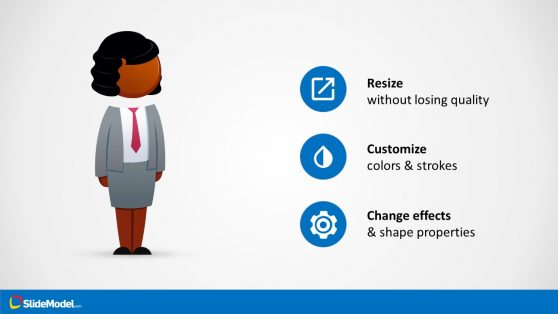 Business Presentation Cartoon Figure Template