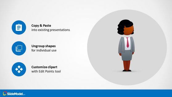 PowerPoint Shape of Brianna Cartoon Figure