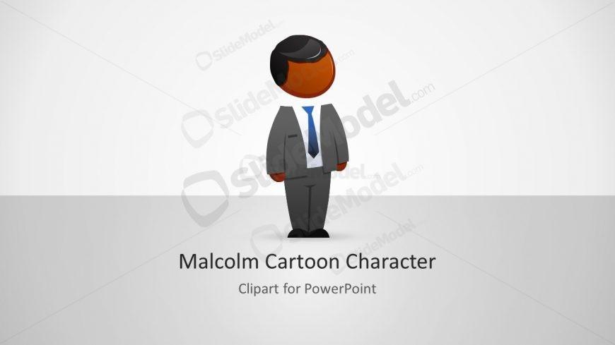 Businessman PowerPoint Character Slide