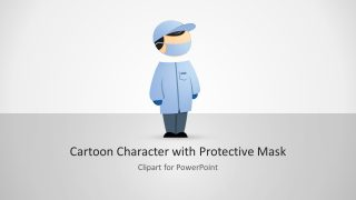 Mike Protective Mask Character PowerPoint Clipart