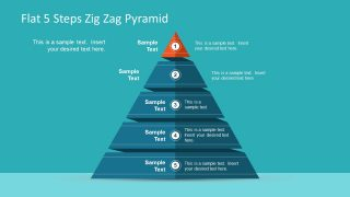 Flat 5 Steps Zig Zag Pyramid