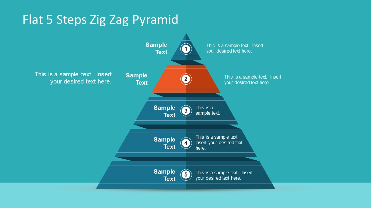 pyramid diagram flat design pyramid presentation slidemodel #6