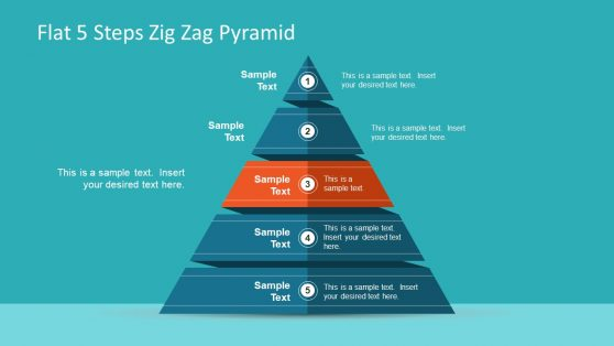 Creative Zig Zag PowerPoint Pyramid
