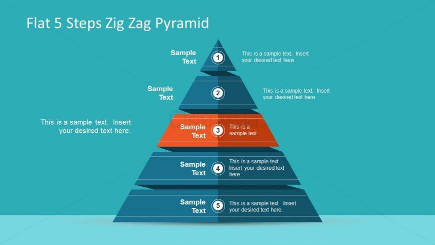 5 Steps Pyramid Diagram Template