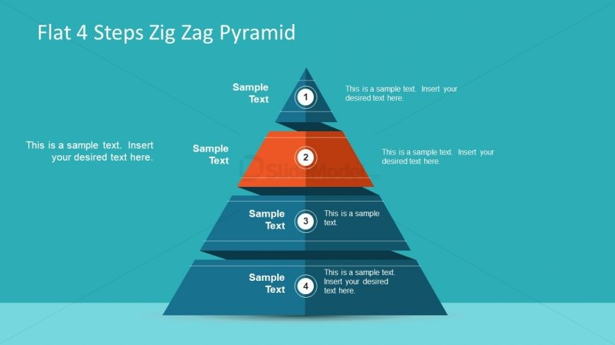 Pyramid Diagram 4 Steps PPT